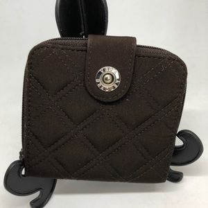 NEW ⚡️ VERA BRADLEY Brown Quilted Small Wallet